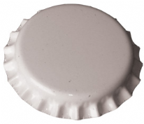 Crown Caps White 100 Pack